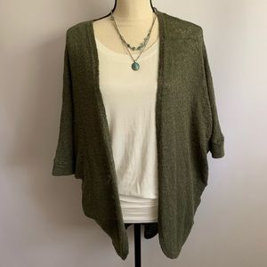 Moss Green Soft and Flowy Oversized Cardigan